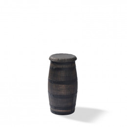 Barrel bar stool high - фото - 1