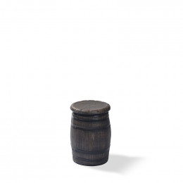 Barrel bar stool low - фото - 1
