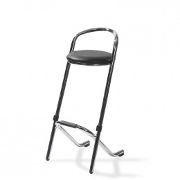 Bar stool stackable chrome black - фото - 1